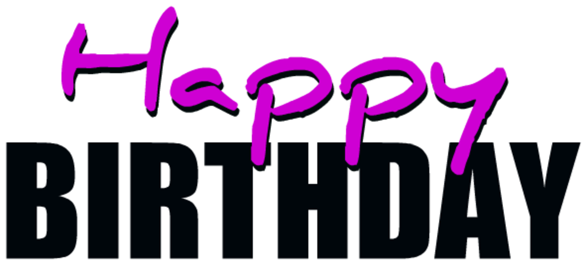 Purple happy birthday clip art