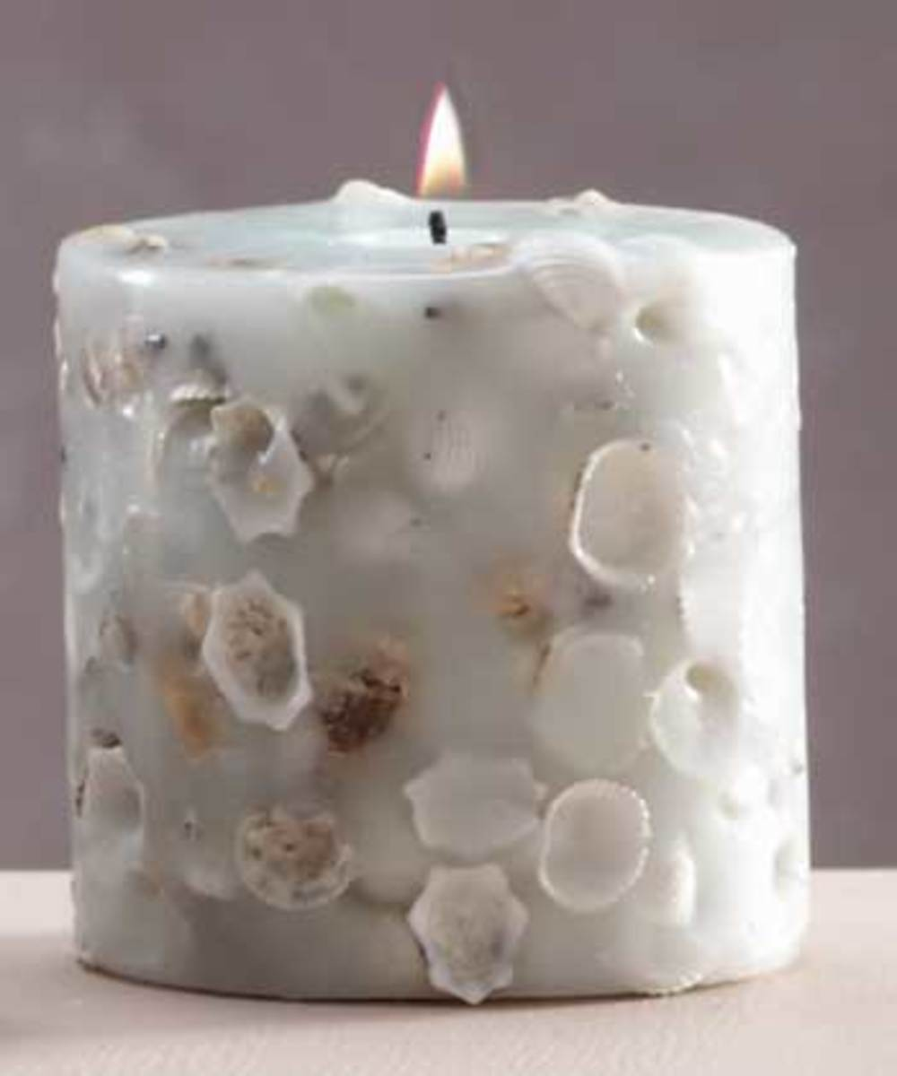 Embedded shell candle