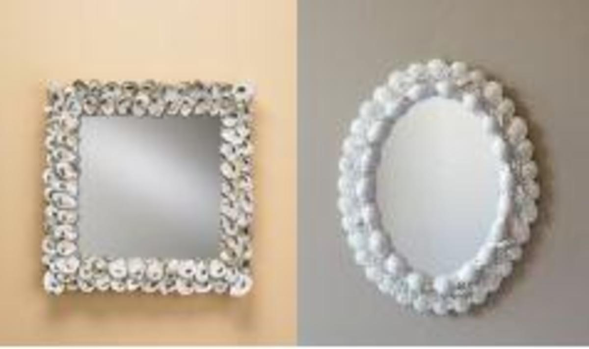 Elegant Shell Mirrors