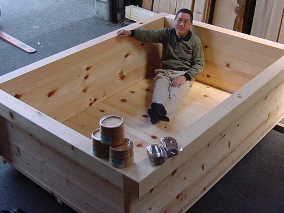Original Hinoki Wood Japanese Bath Tubs For Soaking And Aromatherapy