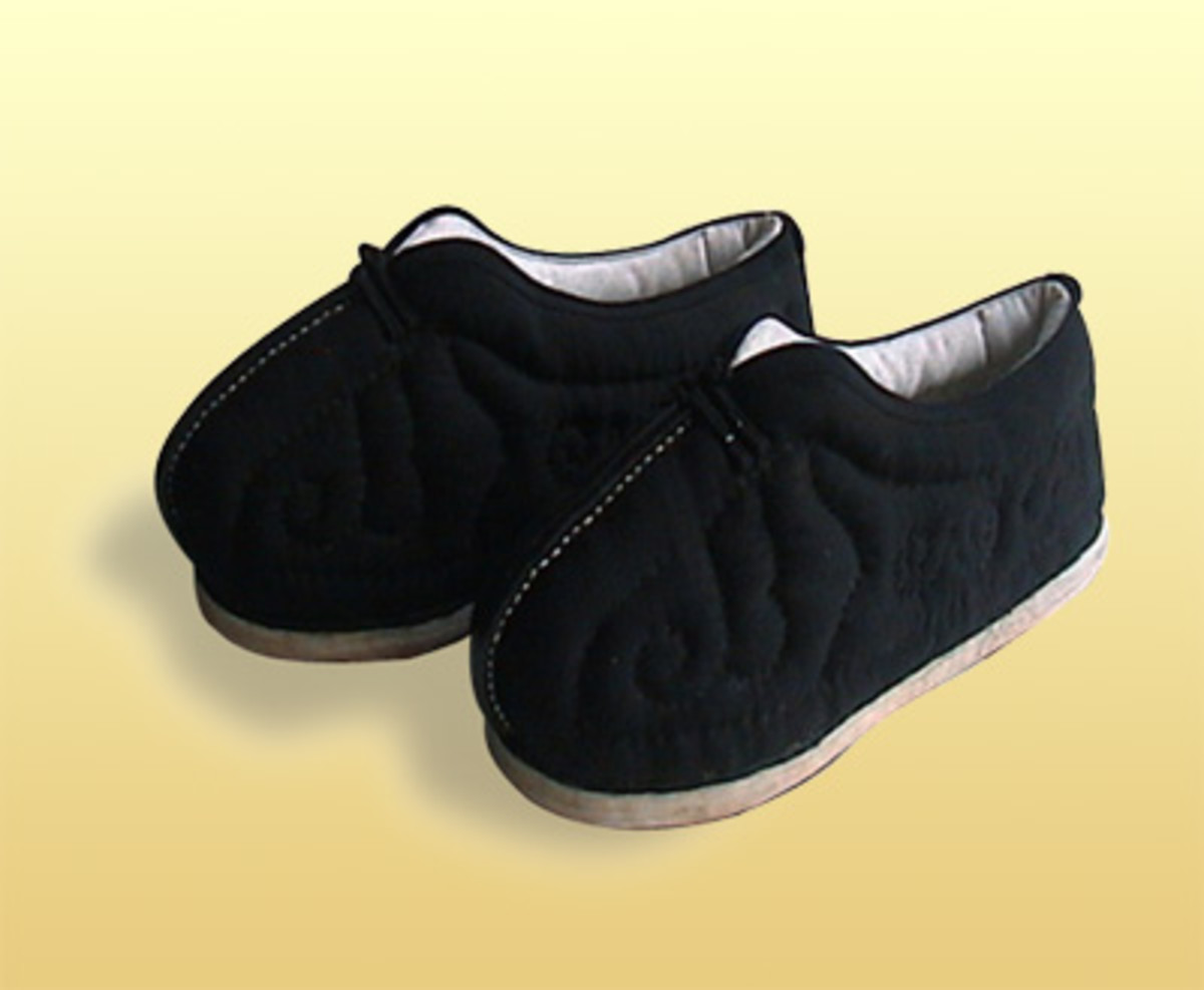 Quilted cotton shoes