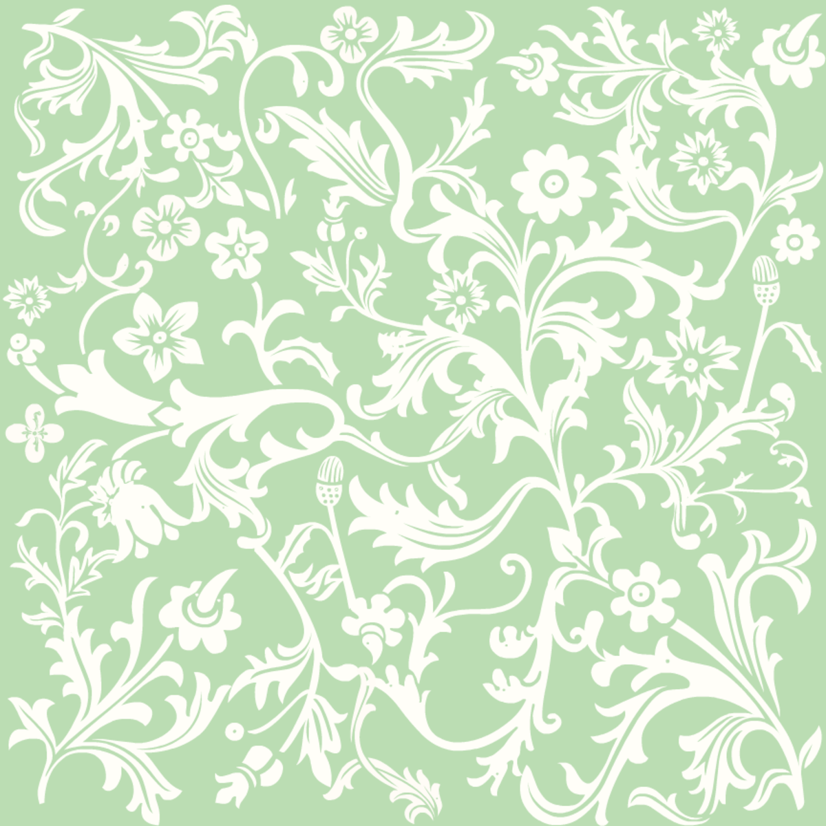 St. Patrick's Day green Victorian flowers scrapbook papers