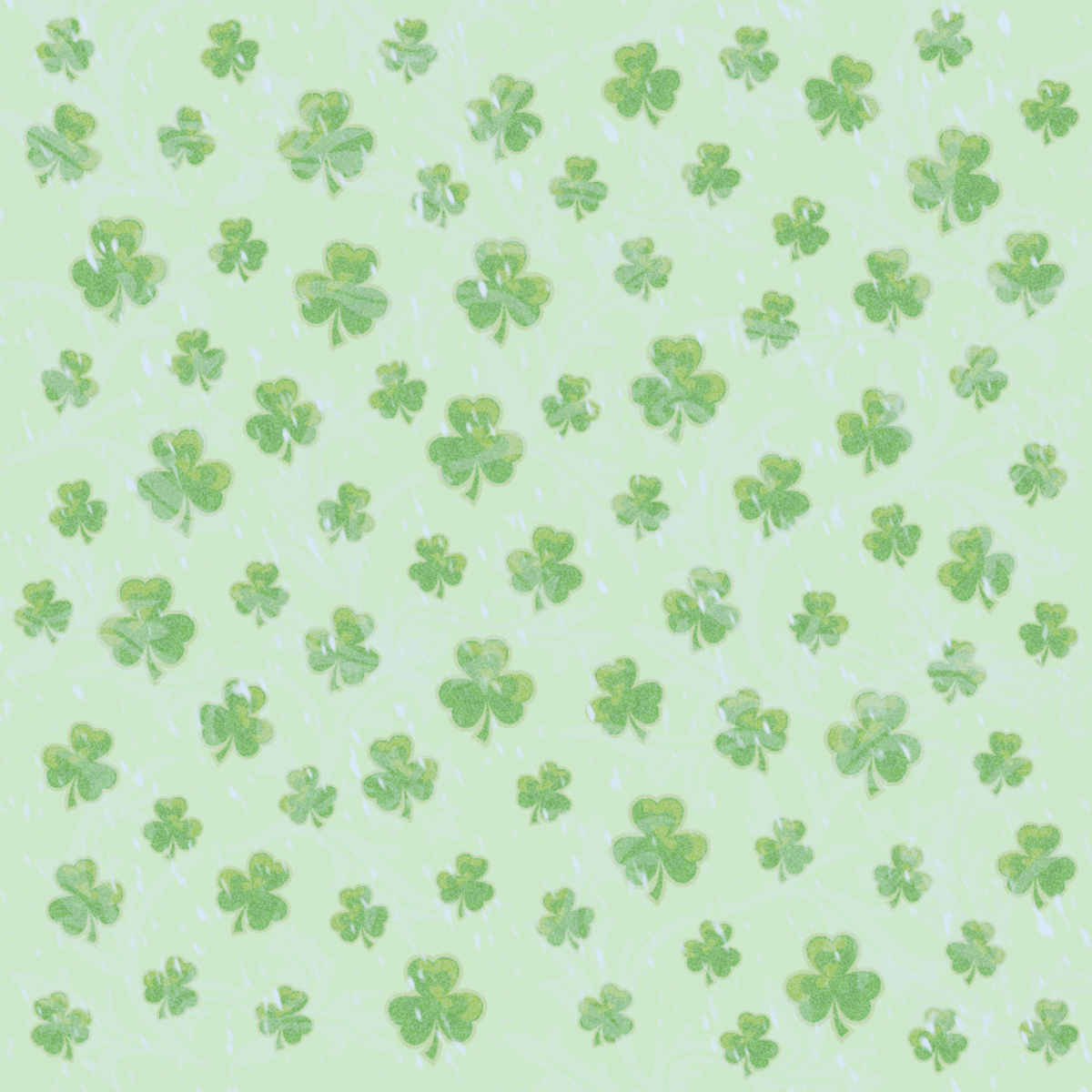 St.Patrick's Day shamrock green background scrapbook paper