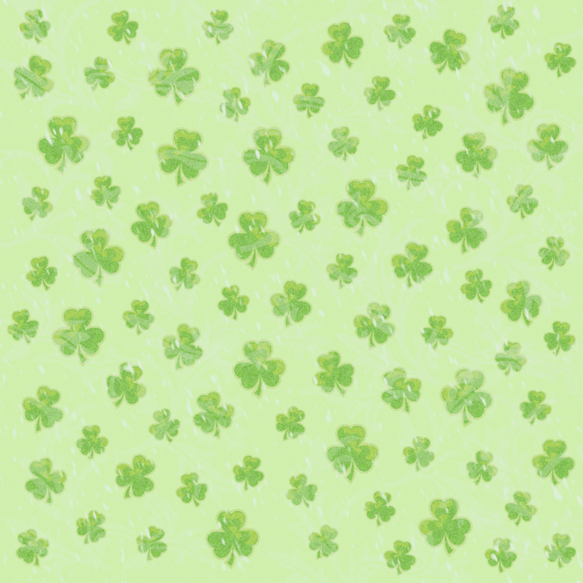 St.Patrick's Day shamrock light green background