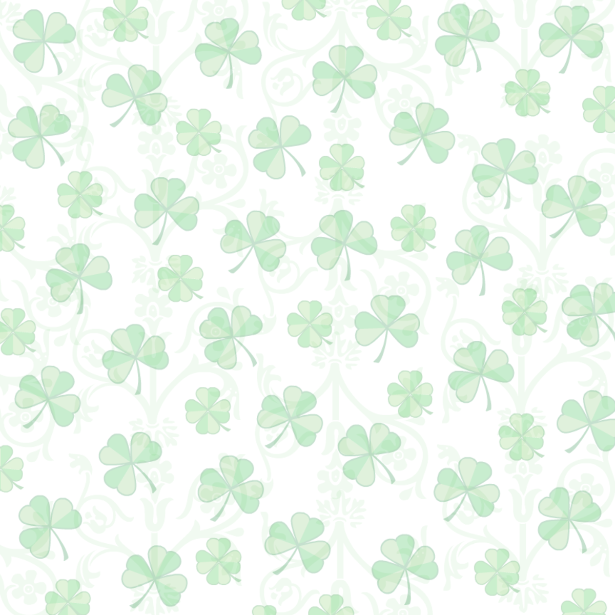 Shamrock white background scrapbooking paper