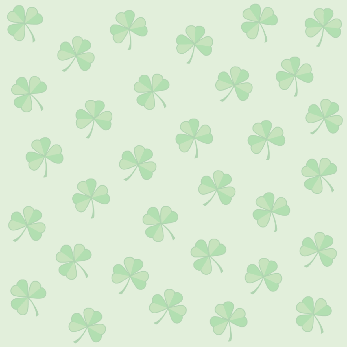 St.Patrick's Day shamrock green background scrapbooking papers