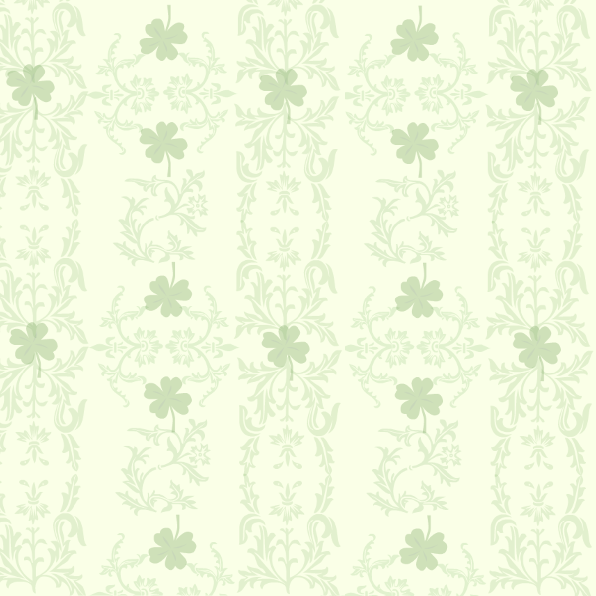 Victorian scrollwork free St. Patrick's Day scrapbooking supplies -- ivory background