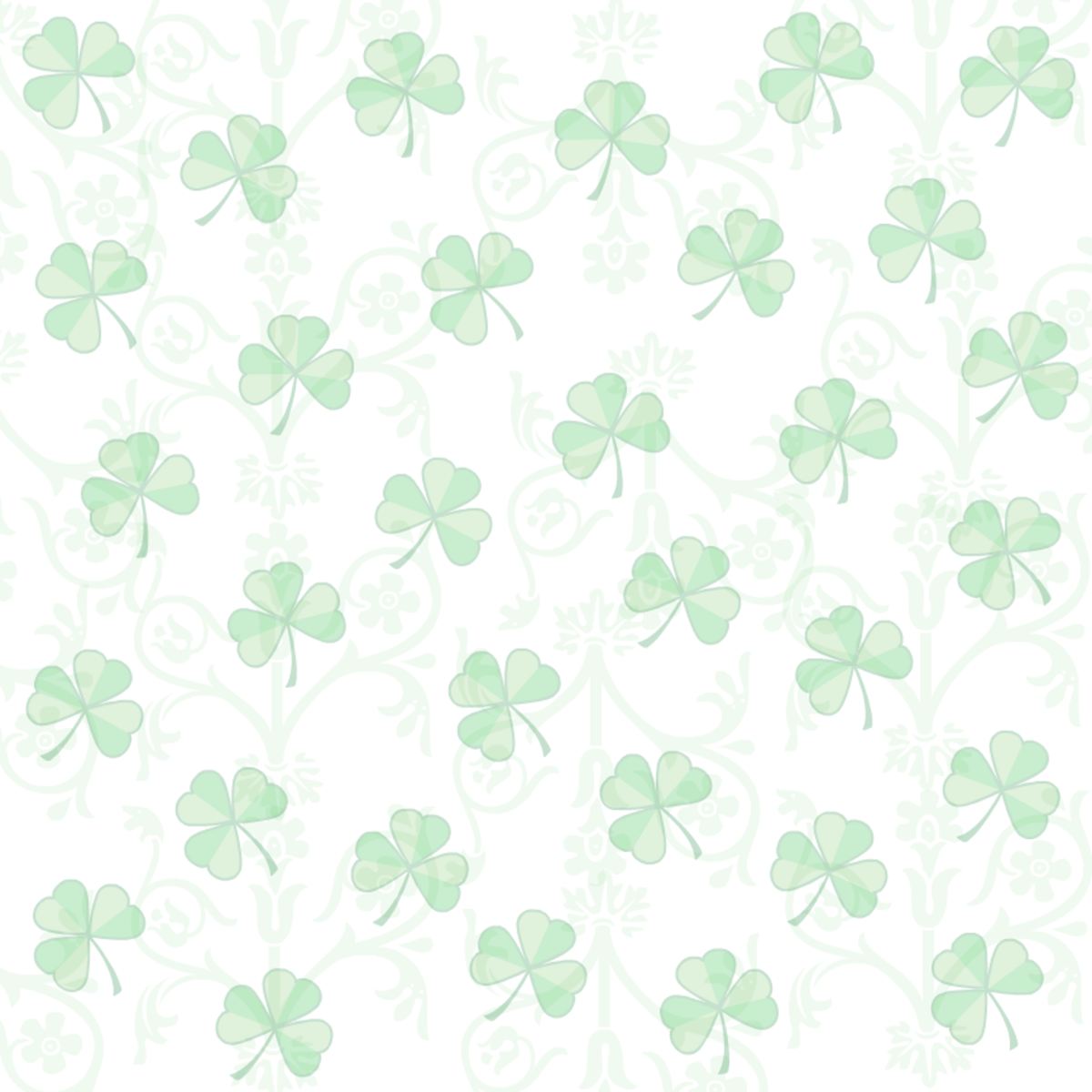 Shamrock white background scrapbook papers