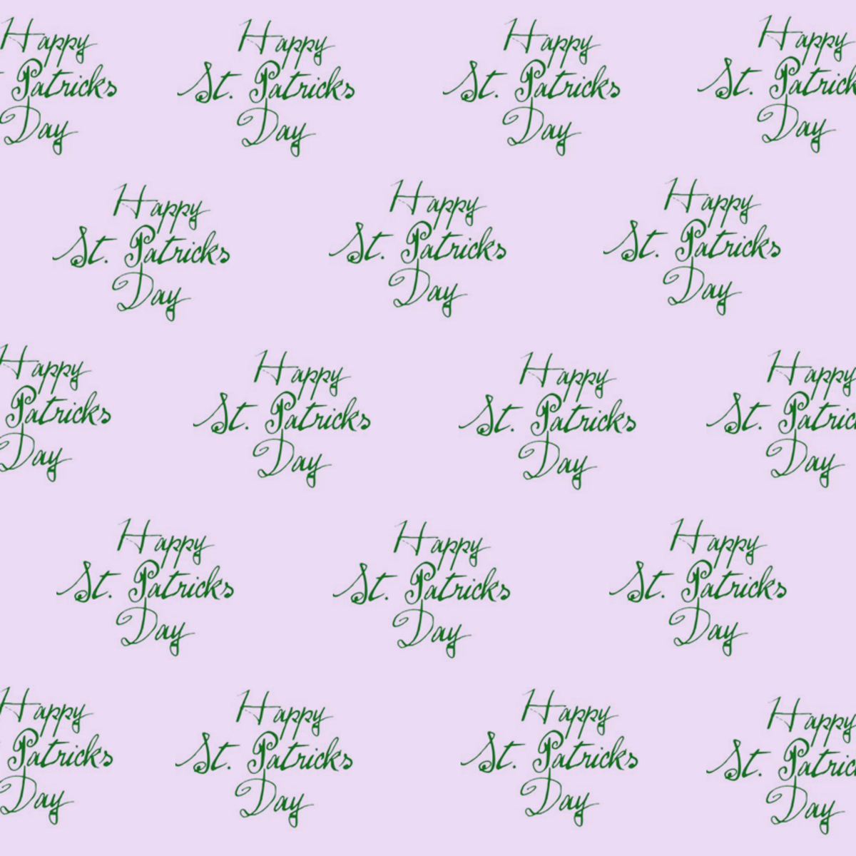Happy St. Patrick's Day scrapbooking paper: purple background