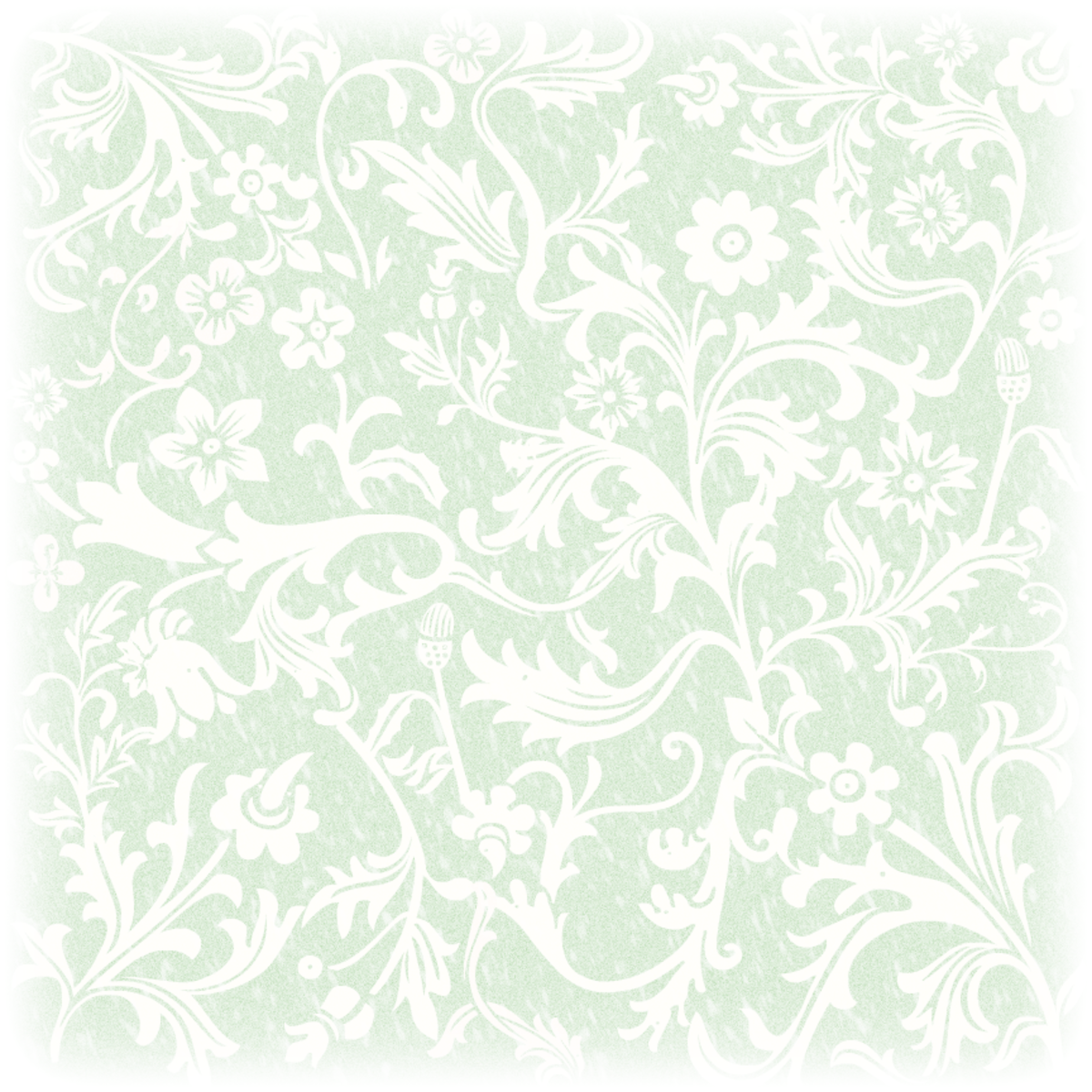 Free St. Patrick's Day green Victorian flowers scrapbooking paper