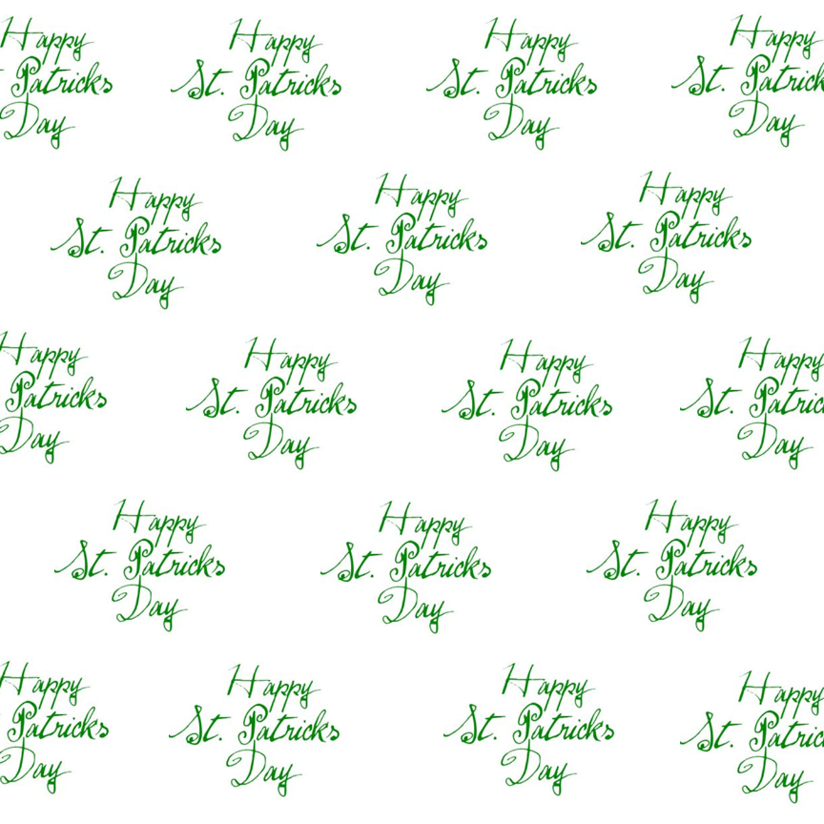Free happy St. Patrick's Day scrapbook papers: white background