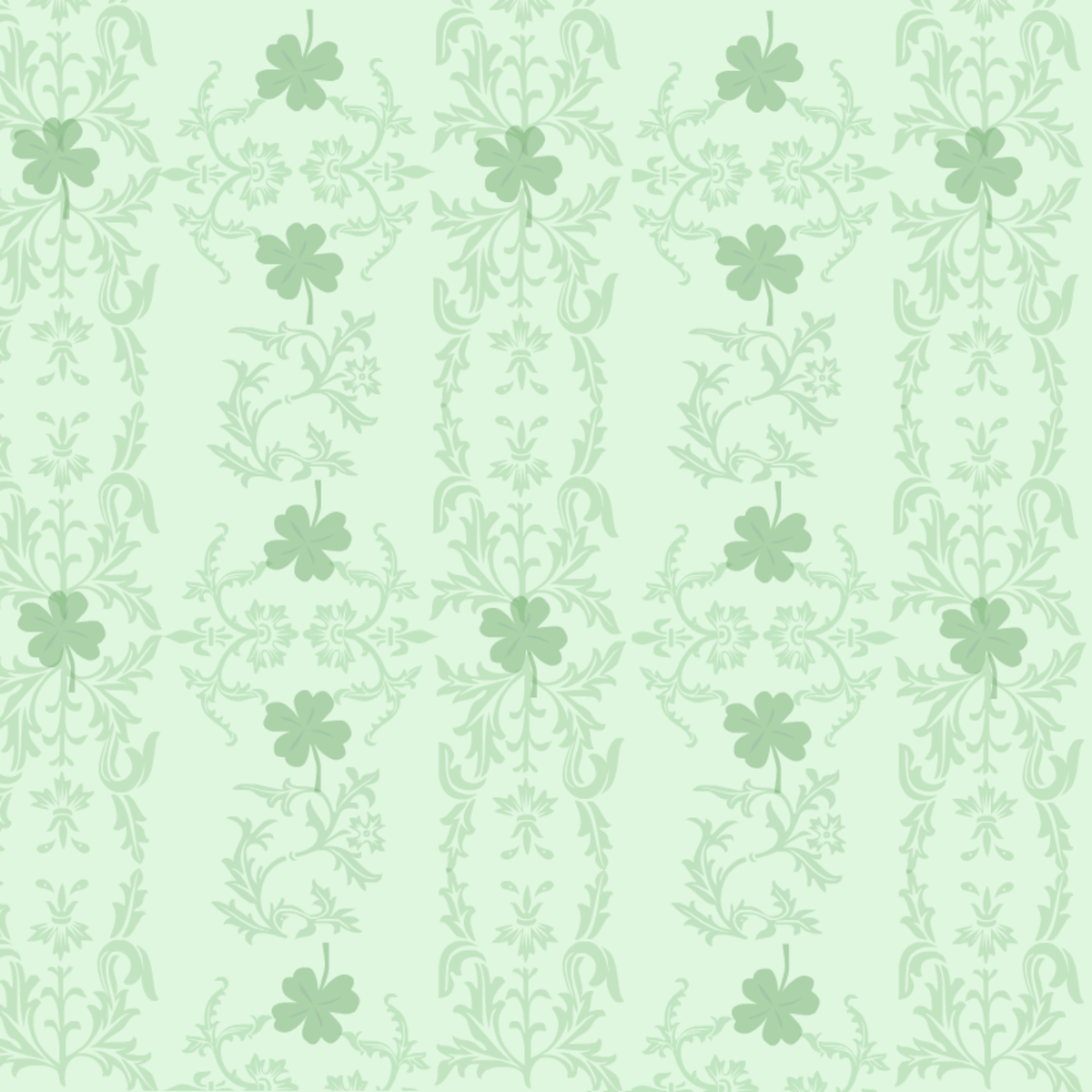 Victorian scrollwork free St. Patrick's Day scrapbook paper -- green background