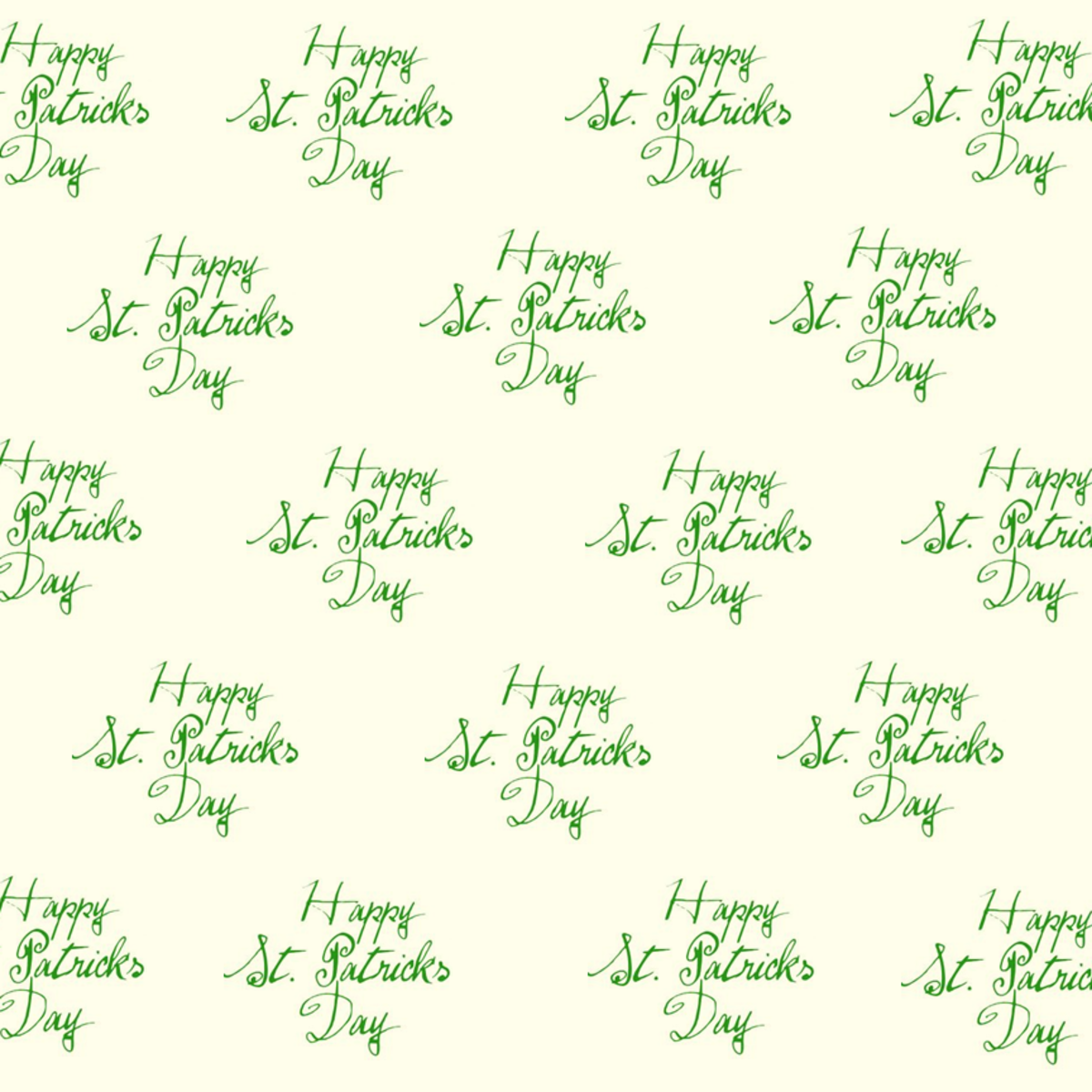 Happy St. Patrick's Day scrapbooking supplies: ivory background