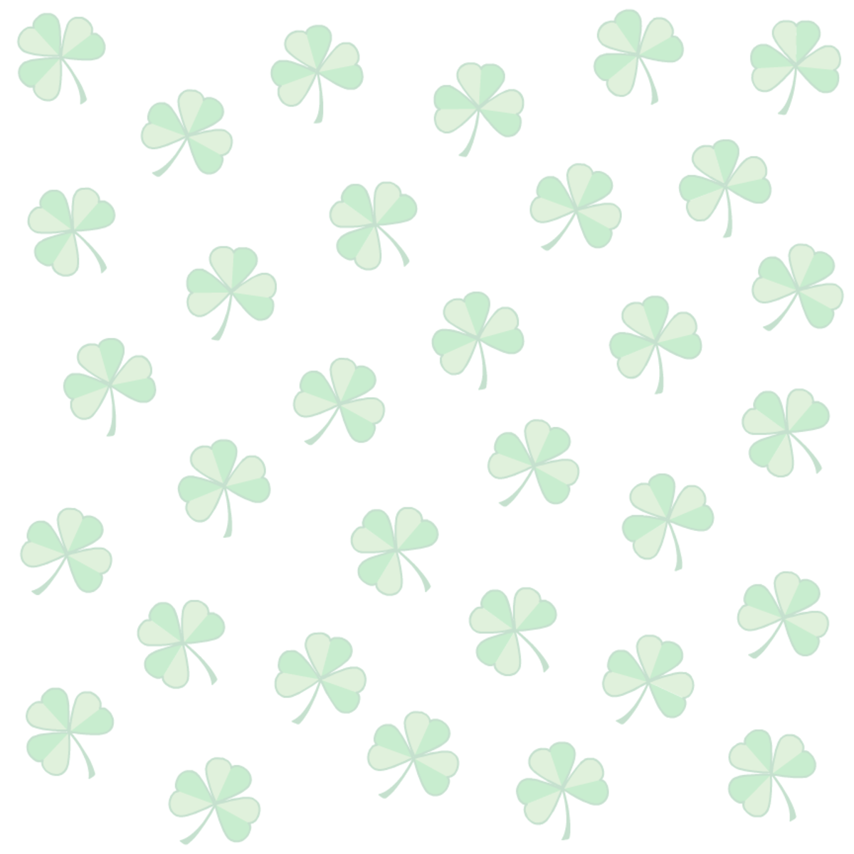 St. Patrick's Day white background scrapbook paper