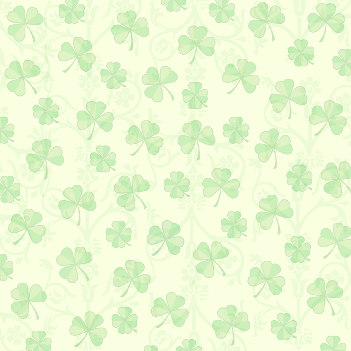 Shamrocks on a vintage-look ivory background