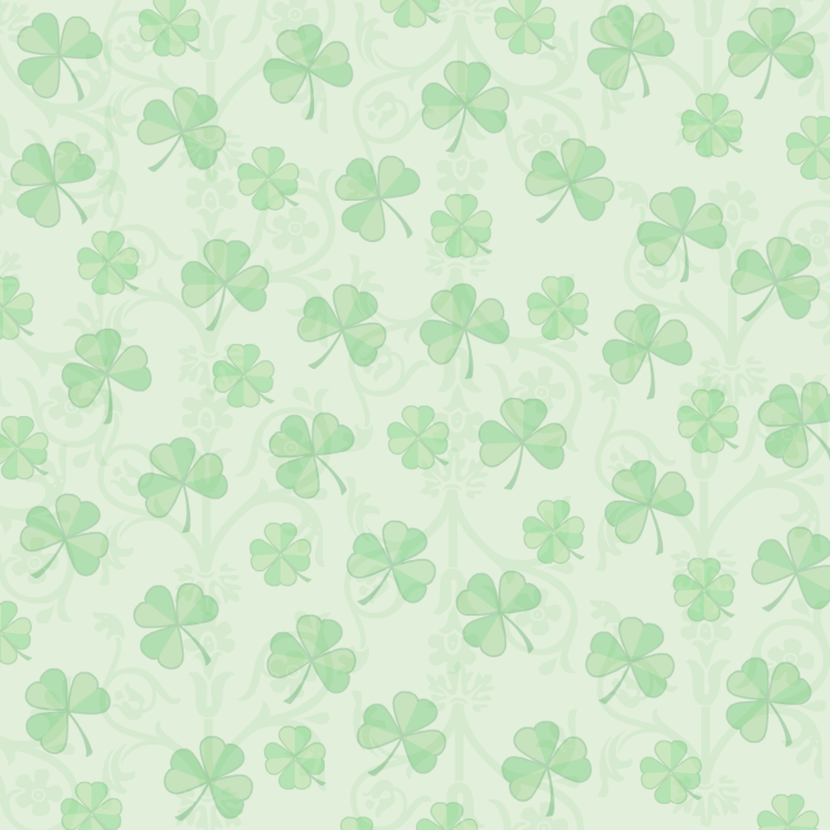 St. Patrick's Day green shamrocks