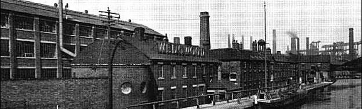 Old photgraph of Wedgewood's Etruria factory, Stoke-on-Trent