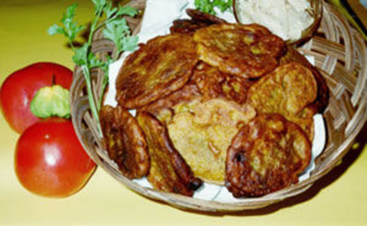 Banana Fritters , See Recipe Down Below.