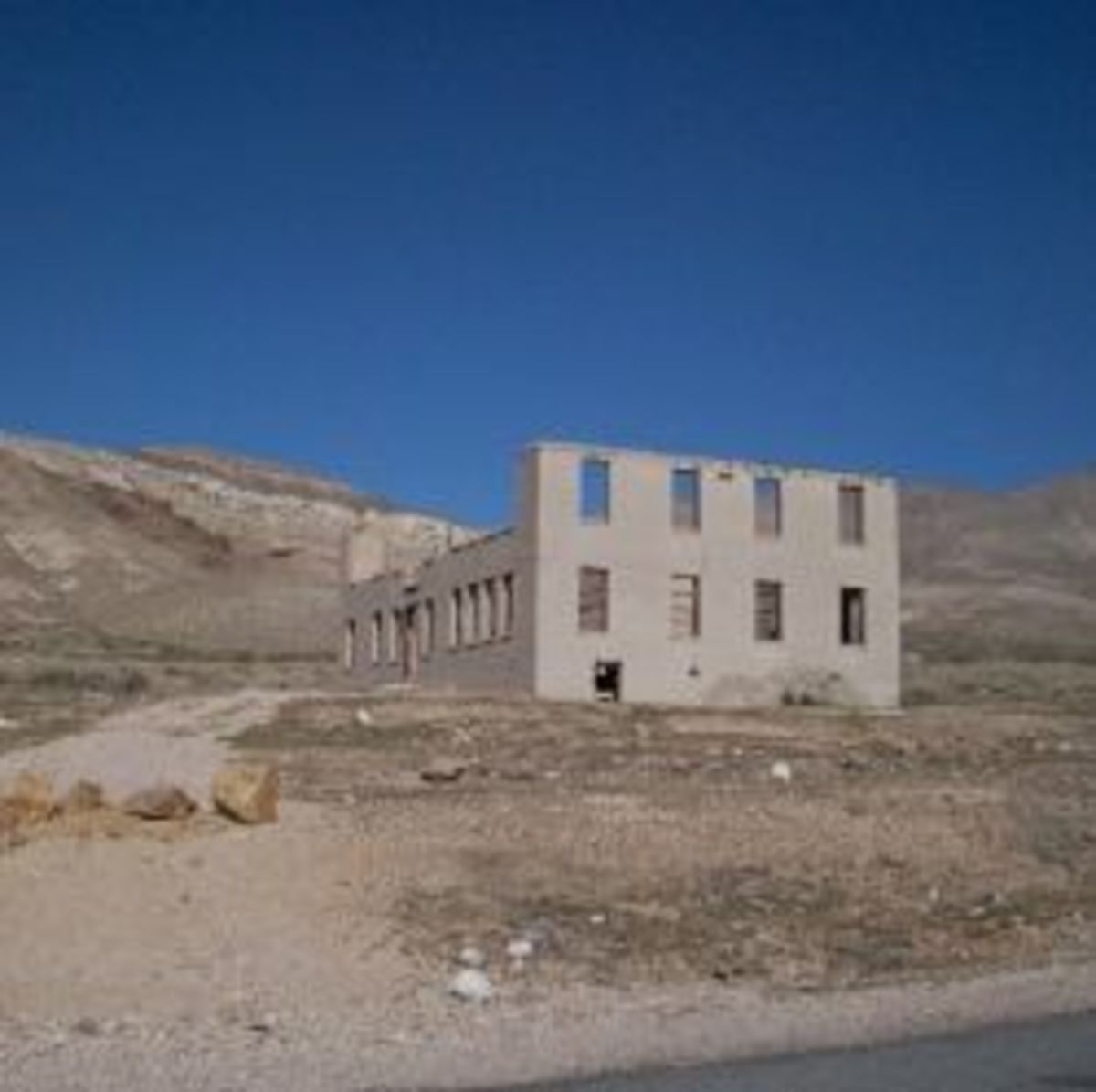 An old building in Rhyolite Ghost Town