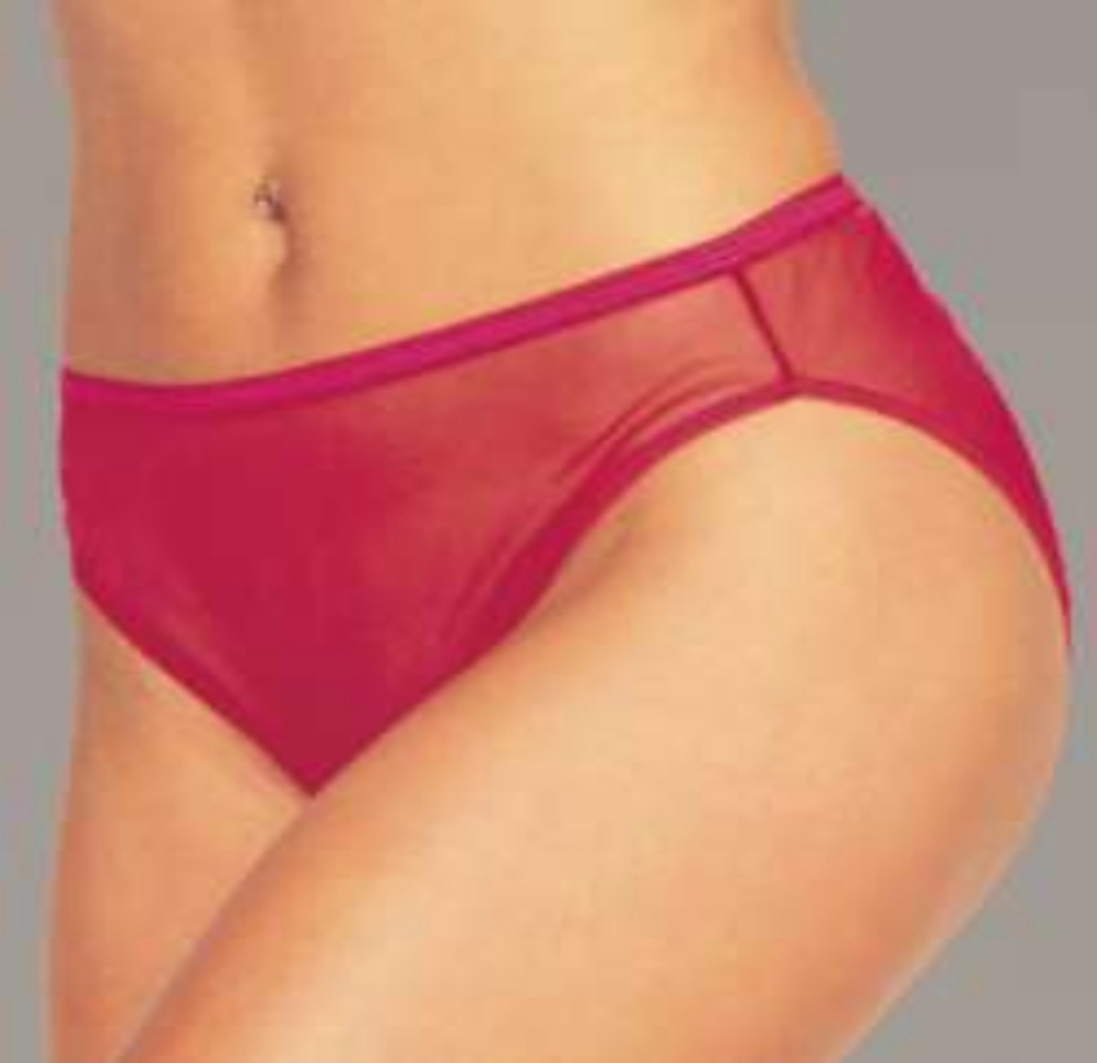 Sweet Nylon Hi Cut Panties For Men