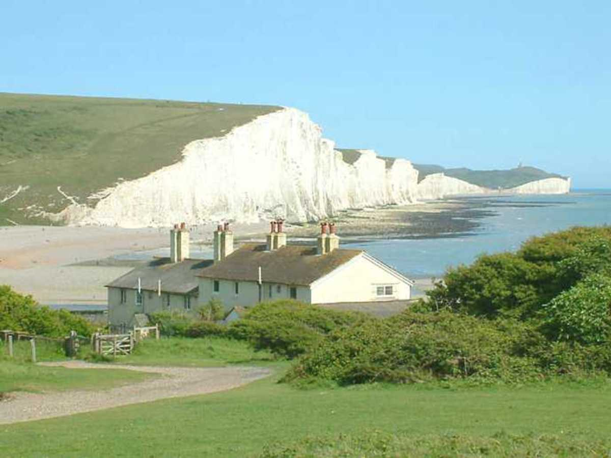 Seven Sisters chalk cliffs in Sussex