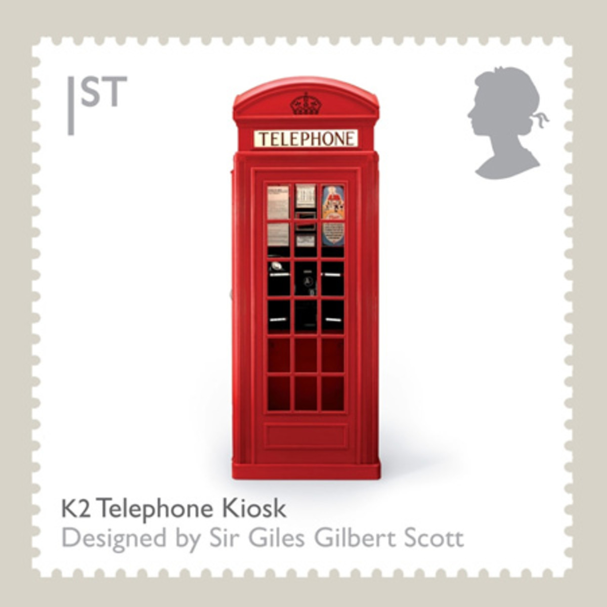 Iconic British Phone Box on a British Postage Stamp