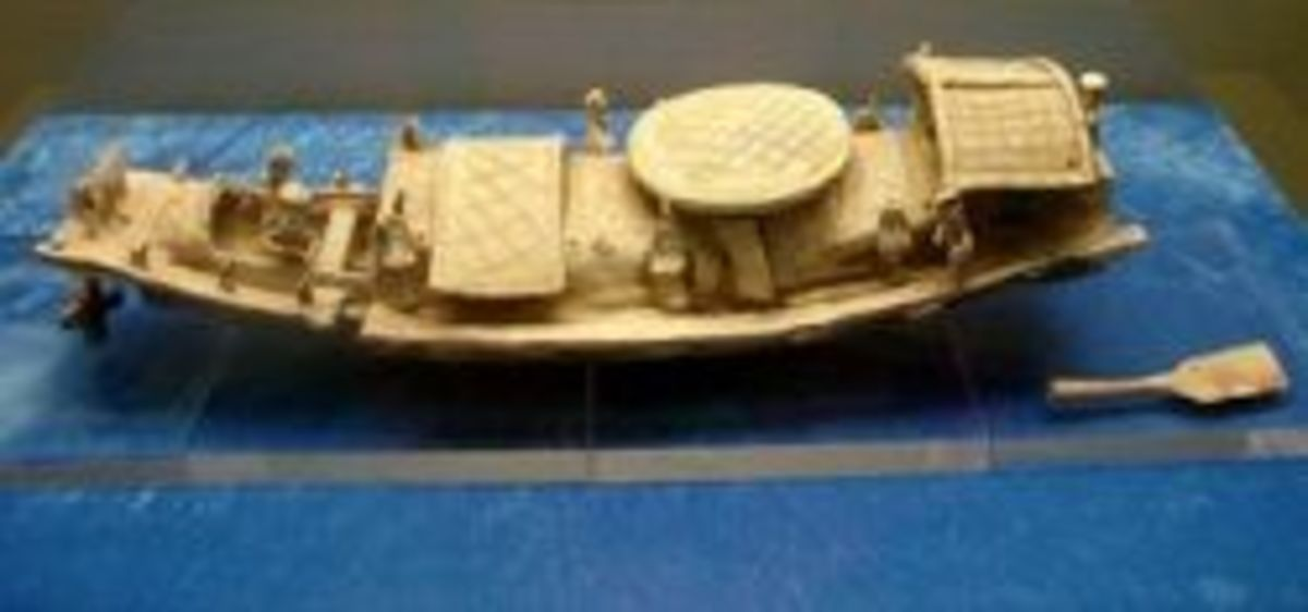 Eastern Han Dynasty Model Chinese Boat