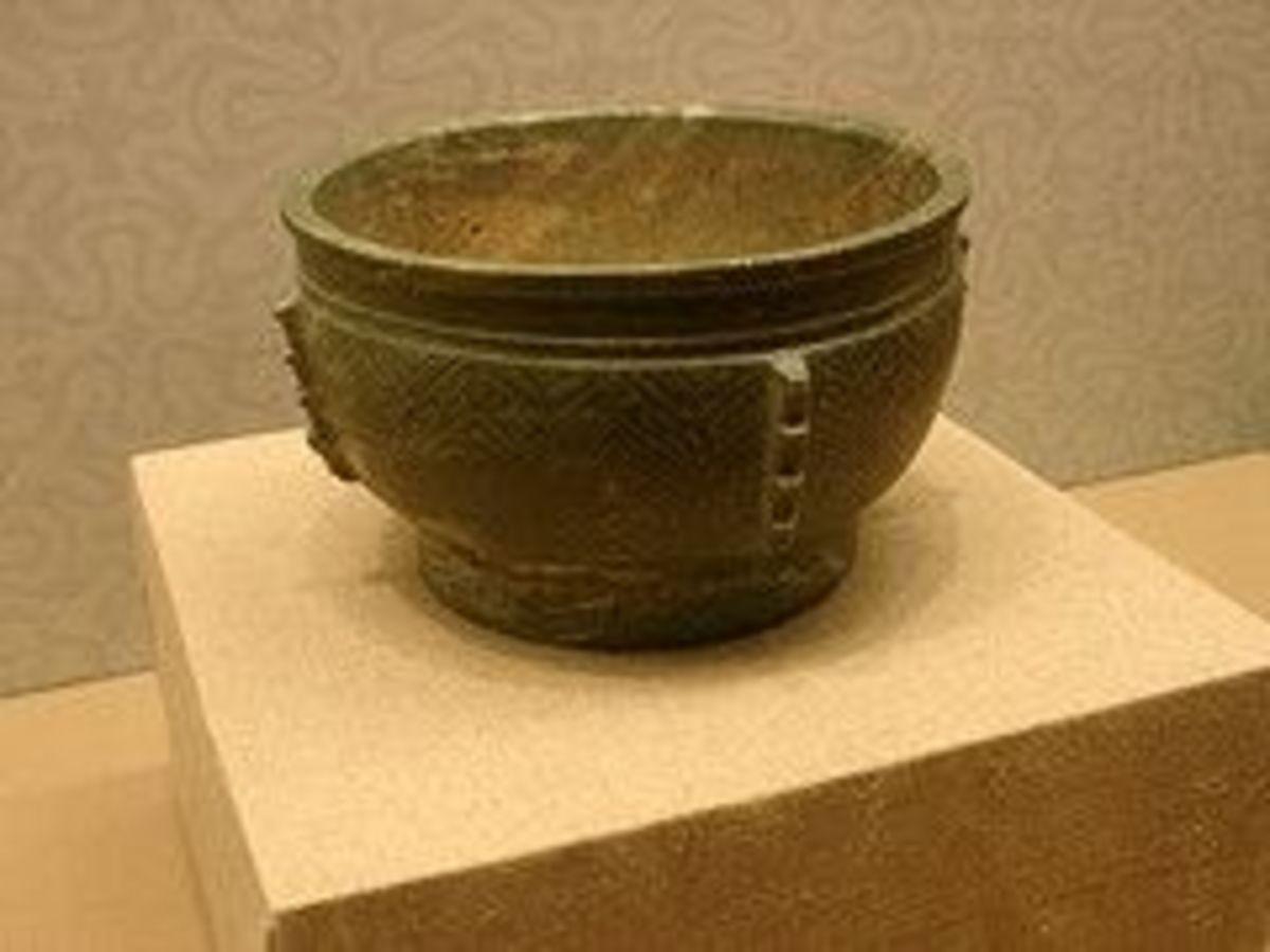 Shang Dynasty Gray Jade Bowl