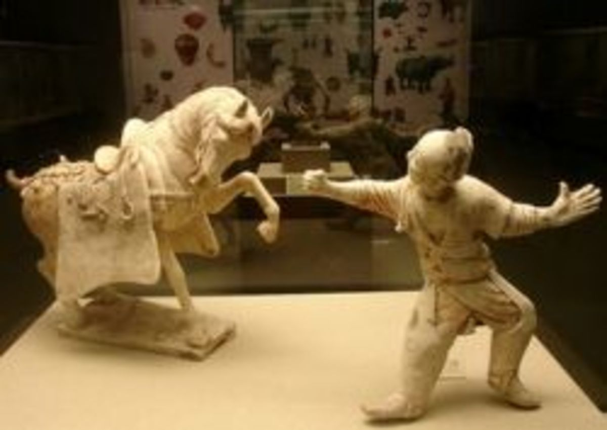 Man Taming Horse - Tang Dynasty Figurines