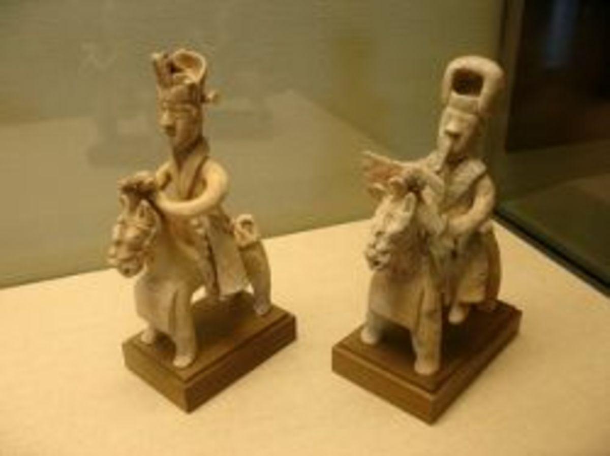 Western Jin Dynasty Celadon Ware Cavalrymen (Qing Ci Qi Yong)