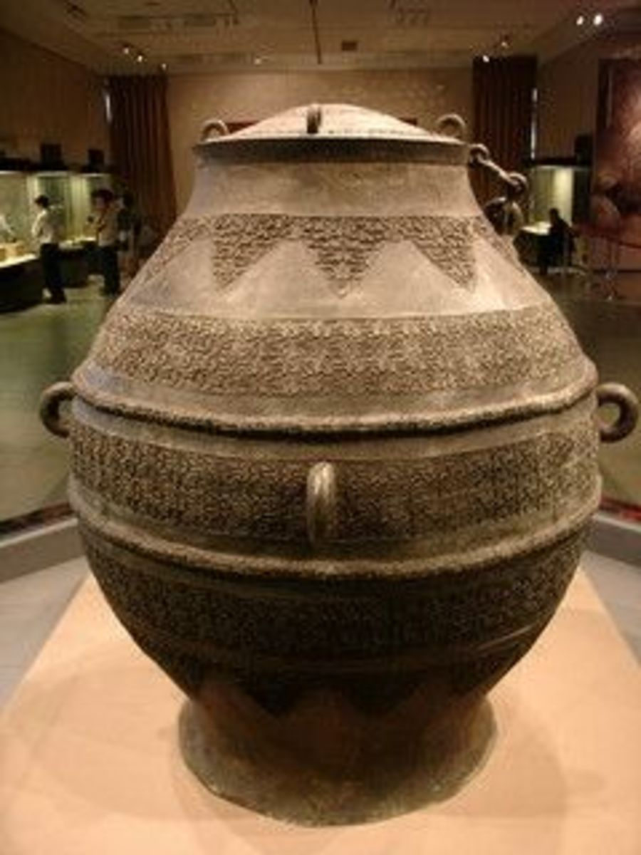 Big Copper Crock (Da Tong Fou) Warring States Period