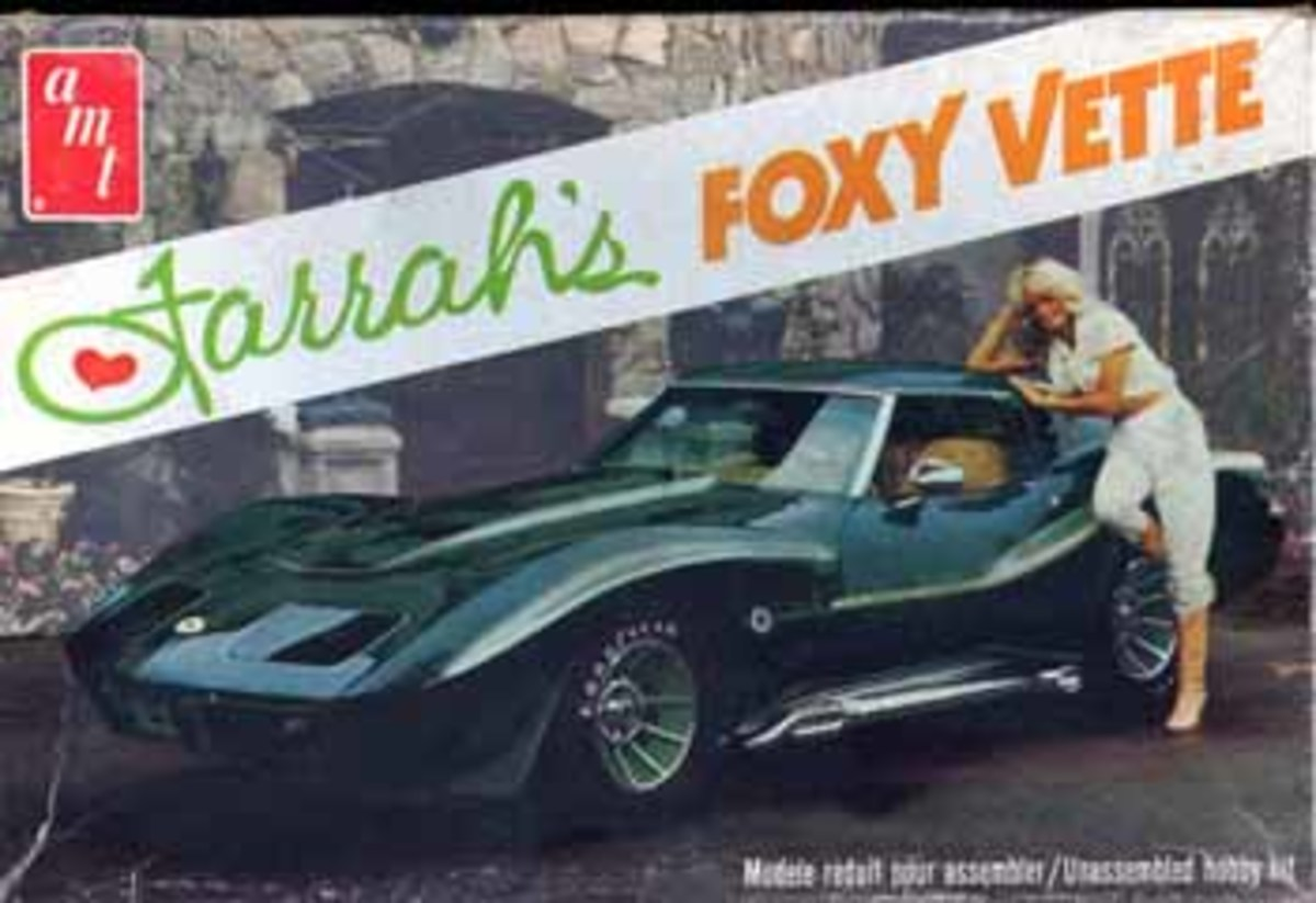 Metallic green 1970 Corvette Stingray as Farrah's Foxy Vette