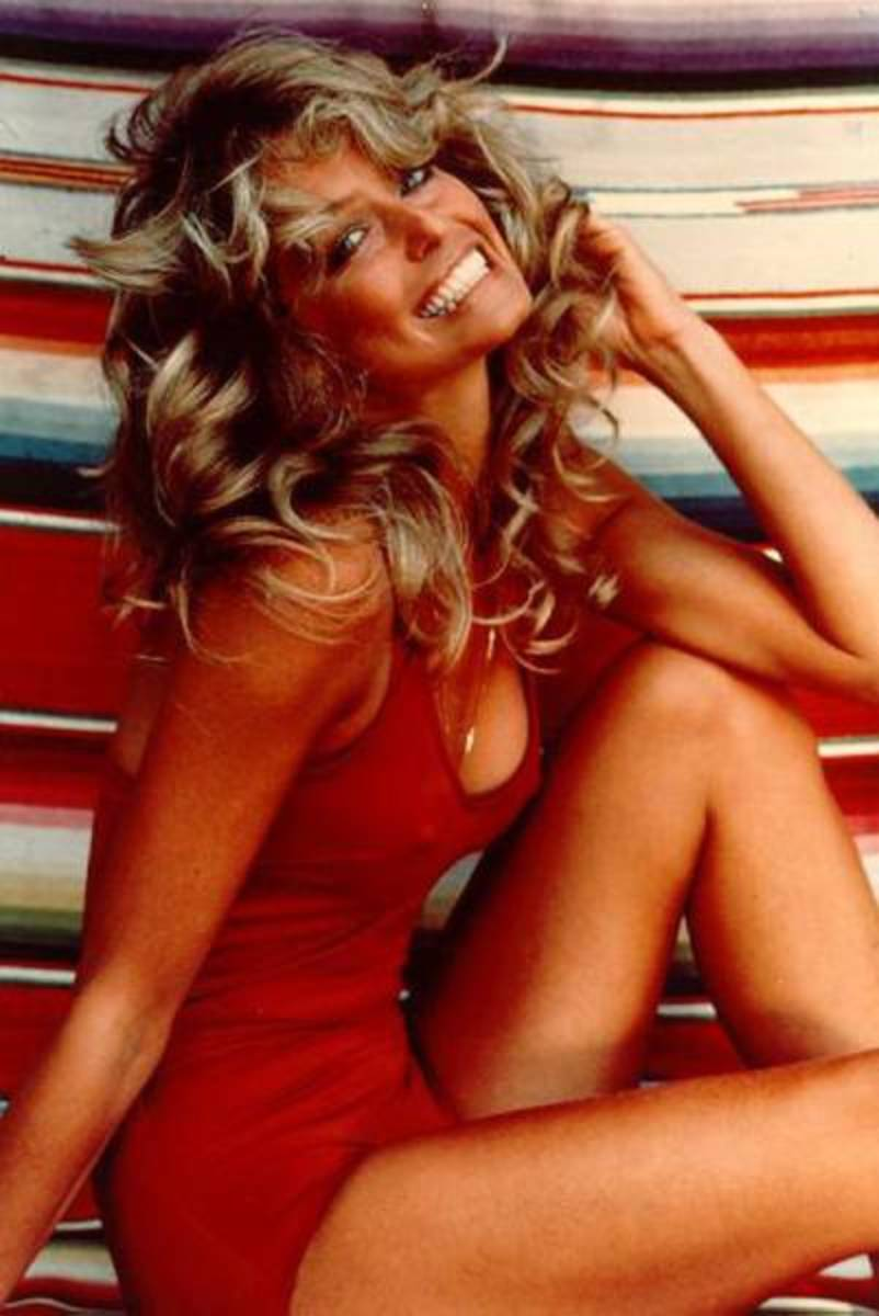 Super Sexy 70's - Famous Farrah Fawcett Pin-up Poster