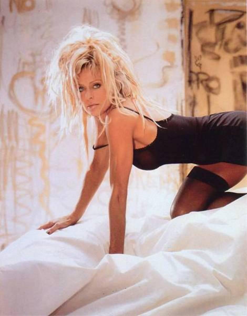 Farah Fawcett in a lingerie