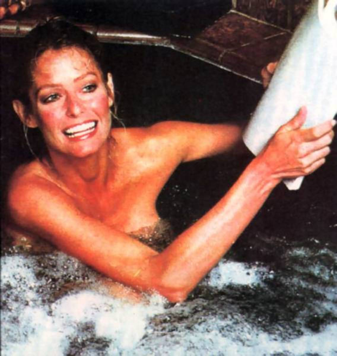 Hot sauna pic of Farrah Fawcett