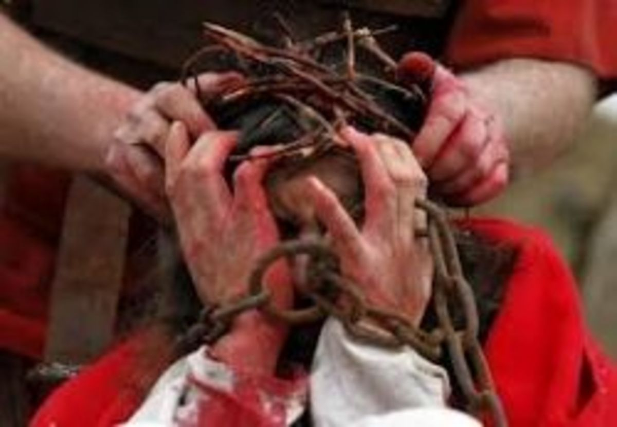 """And when they had platted a crown of thorns, they put it upon his head."" (Matt.27:29)"