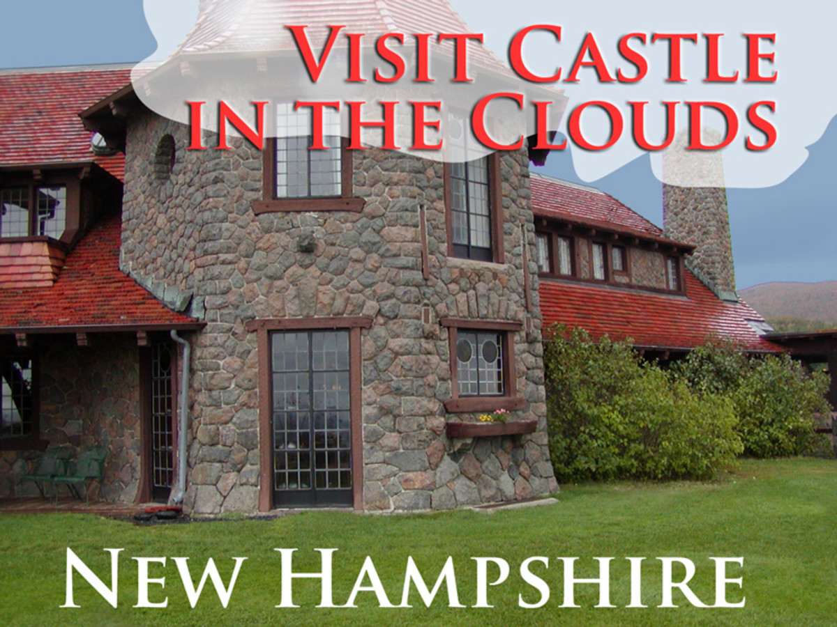 Castle in the Clouds overlooks Lake Winnipesaukee in central  New Hampshire