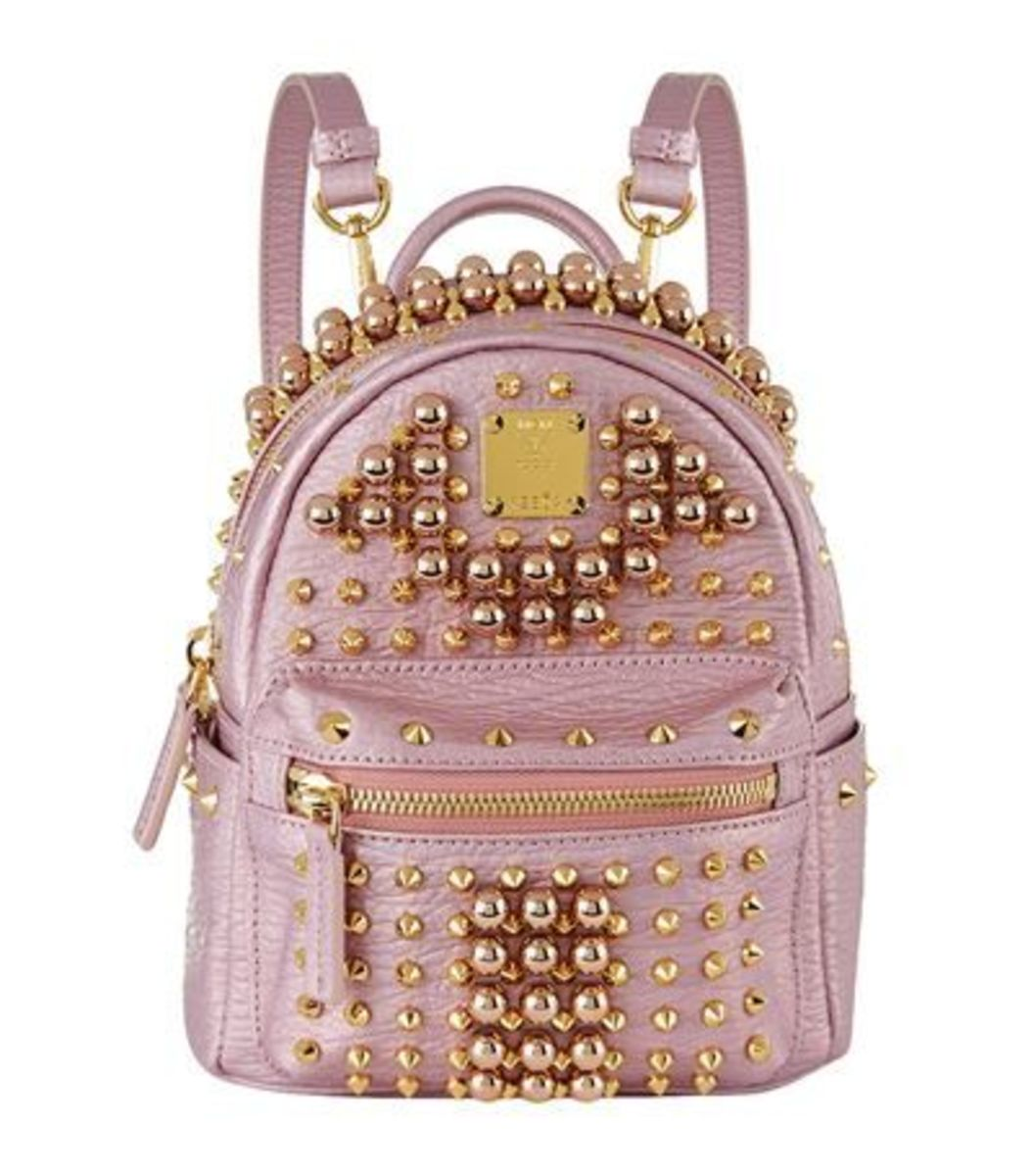 MCM Pearl Studded Backpack