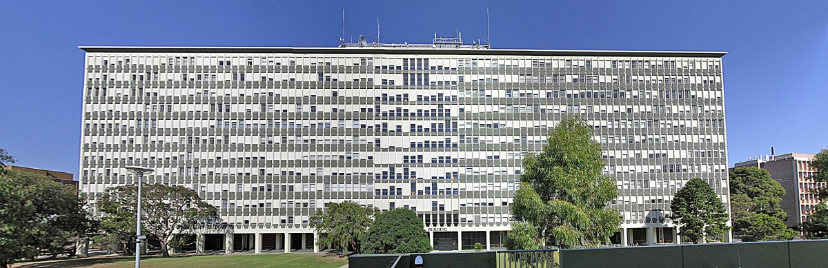 The iconic Robert Menzies Building on the Clayton Campus