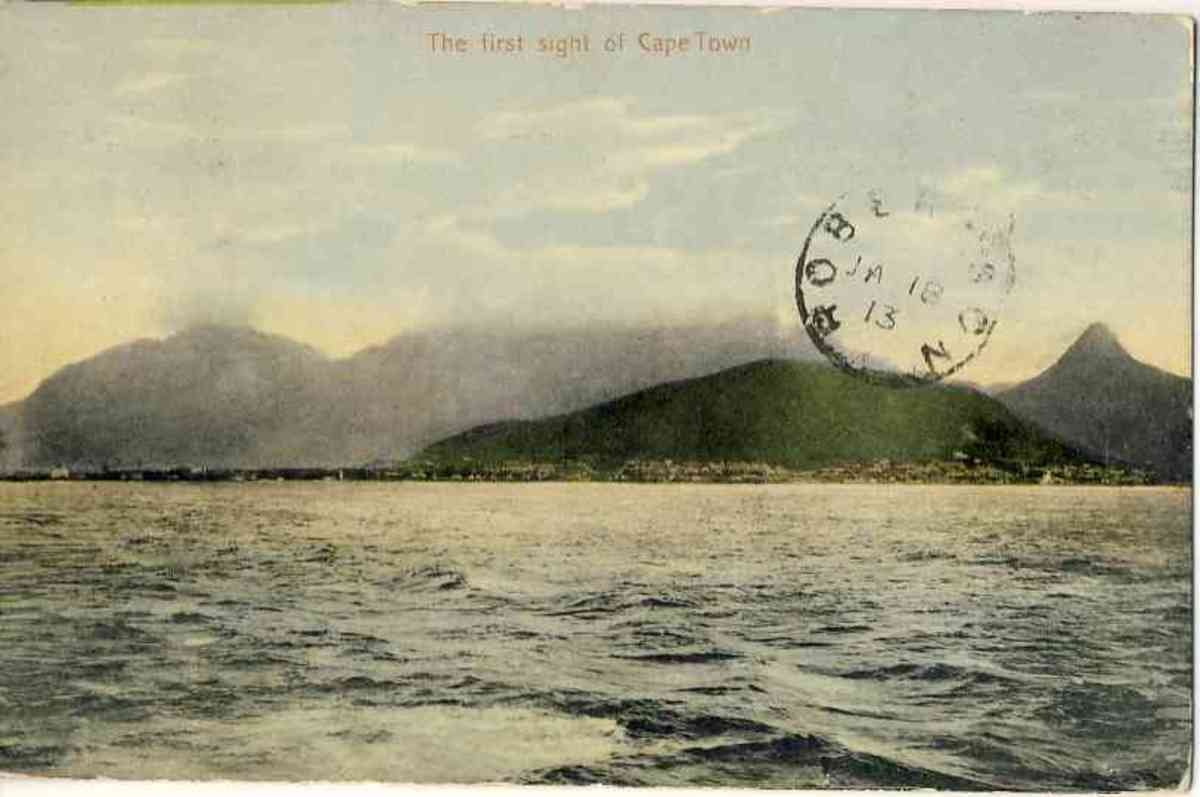 The first sight of Cape Town