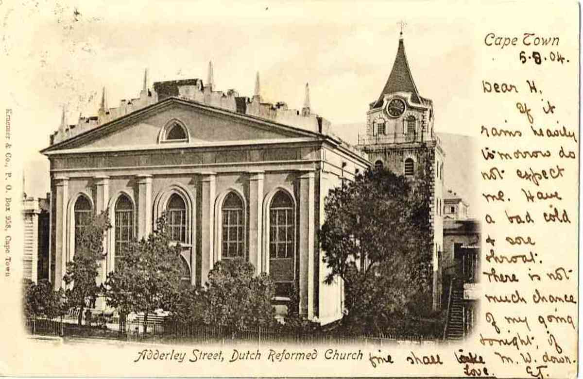 The Grootte Kerk at the top of Adderley Street
