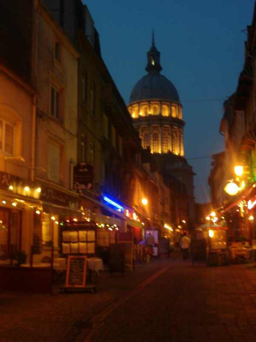 Rue de Lille and Basilica at Night