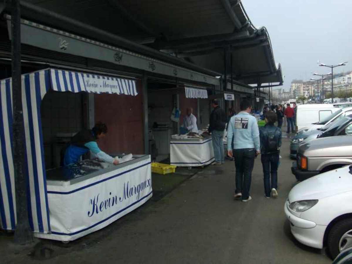 Quayside Fish Stalls - Boulogne Sur Mer