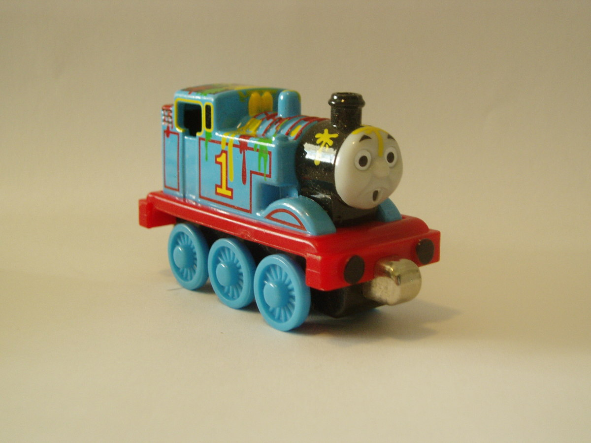 Paint Splatter Take Along Thomas