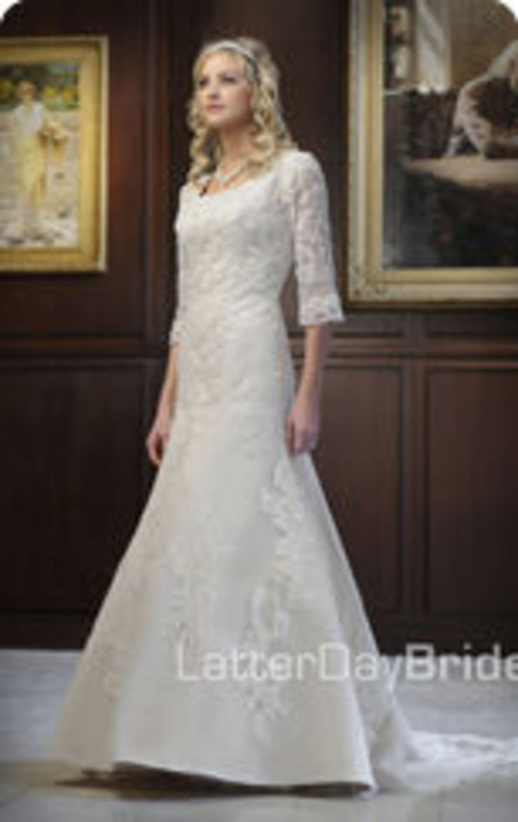 photo credit: latterdaybride.com/modest-wedding-dresses, Inglewood, price $705