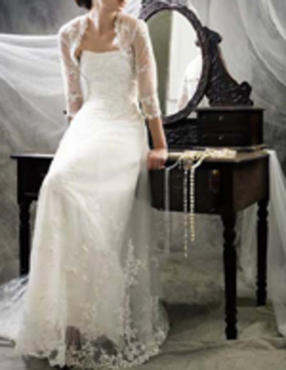 photo credit, weddingdressdiscount.com,  long sleeve wedding dress, Style code: 3013