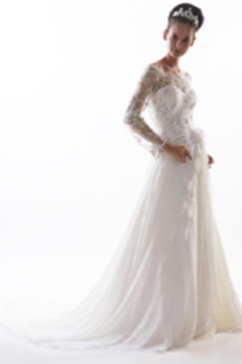 photo credit, weddingdressdiscount.com,  long sleeve wedding dress, Style code: 3312