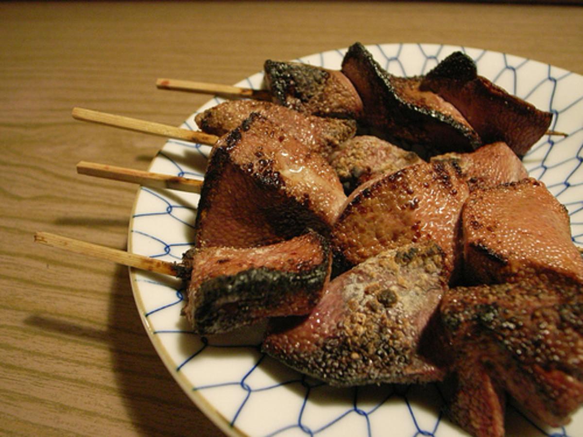 Grilled Pork Liver (Photo courtesy by nakajimaron from Flickr)