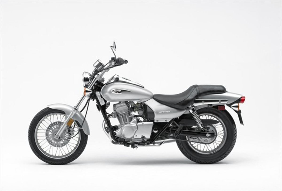 Here we have it, folks. The lowest priced 125cc motorcycle available in North America today, the 2009 Kawasaki Eliminator 125 with an MSRP: $2,799. Such a deal! NOT!