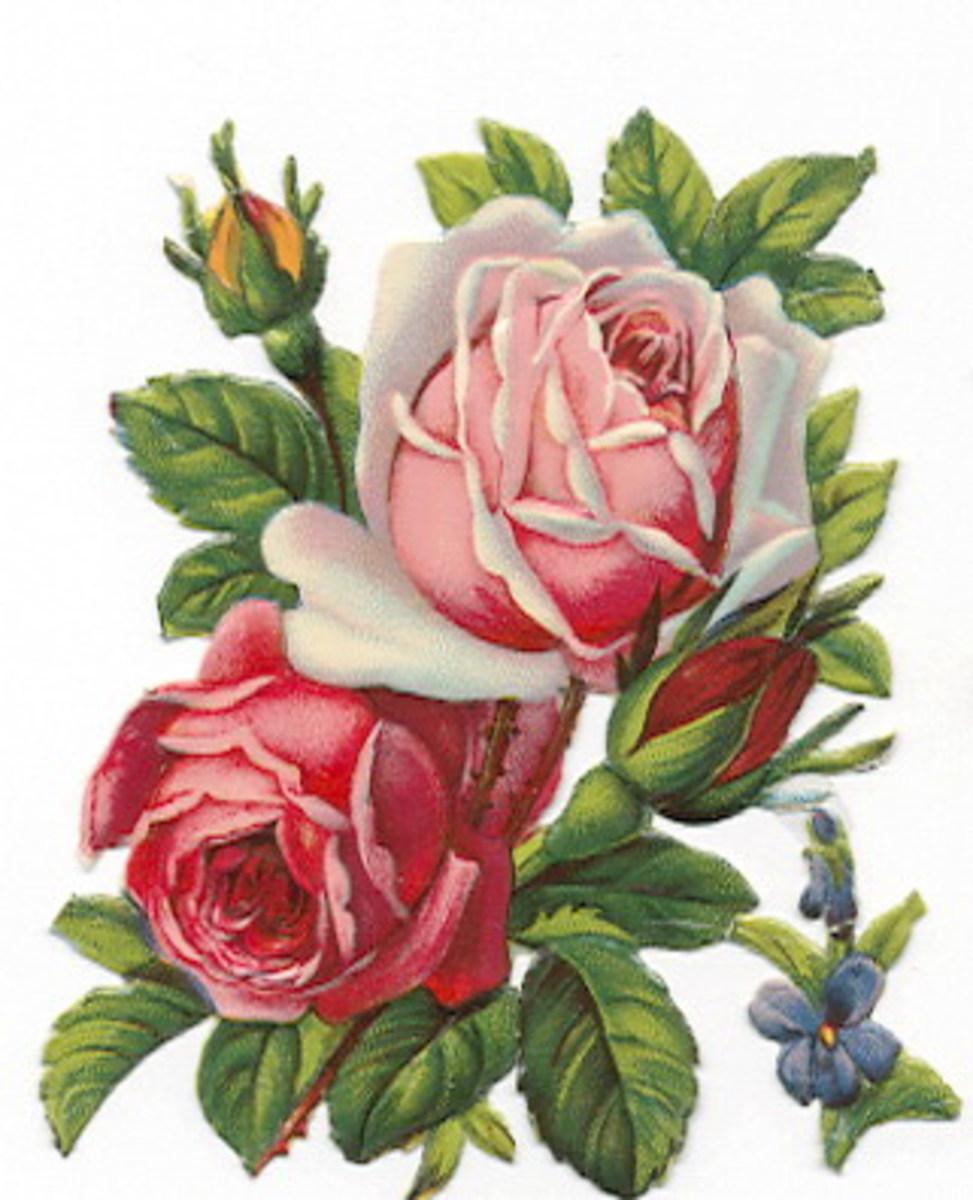 Vintage roses (thanks to Carla at info@vintageholidaycrafts.com)